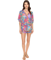 Luli Fama - Sunburst Cabana V-Neck Dress Cover-Up