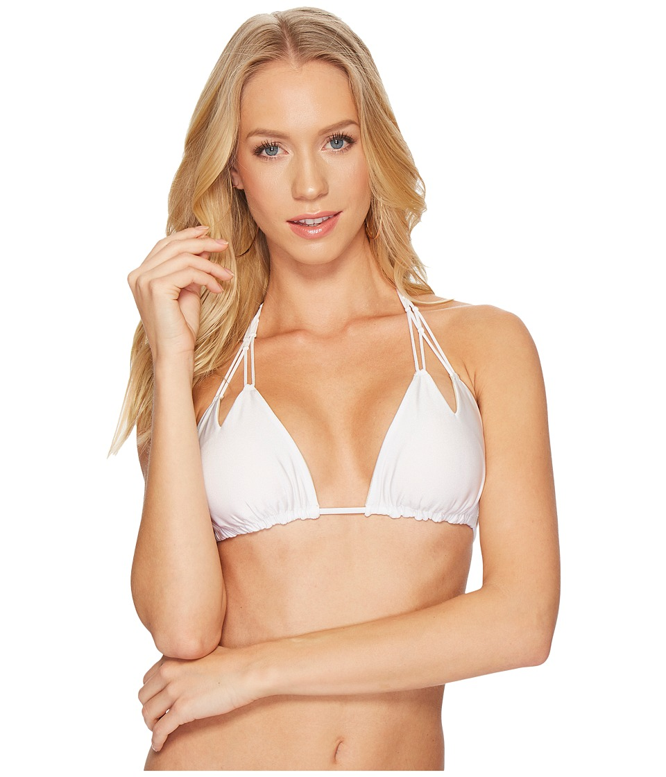 Luli Fama Luli Fama - Cosita Buena Reversible Zigzag Knotted Cut Out Triangle Top