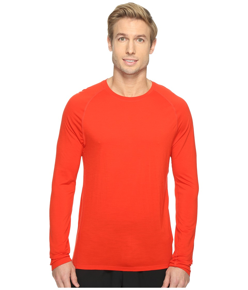 Smartwool Merino 150 Baselayer Long Sleeve (Fire Red) Men