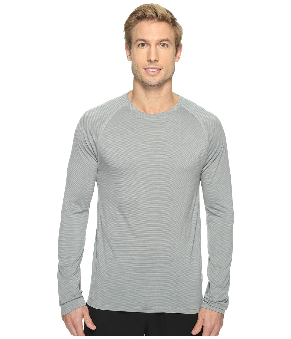 Smartwool Merino 150 Baselayer Pattern Long Sleeve (Light Gray) Men