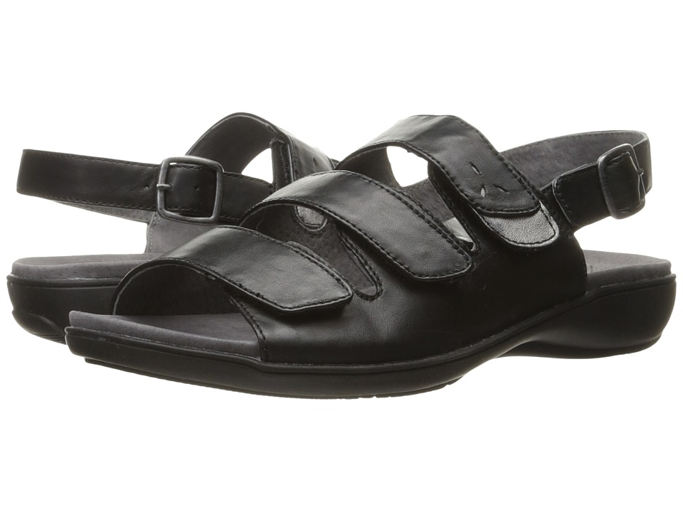 Trotters - Kendra (Black/Pewter) Womens Sandals