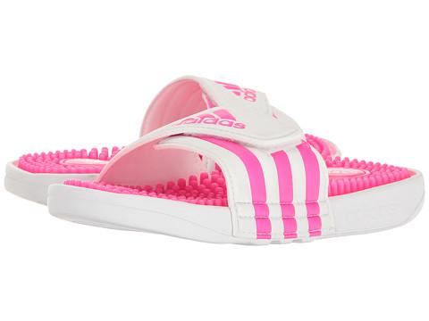adidas Kids Adissage (Toddler/Little Kid/Big Kid) - White/Shock Pink/Footwear White