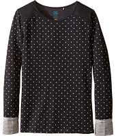 C&C California Kids - Thermal/Jersey Top with Polka Dots and Stripes (Little Kids/Big Kids)