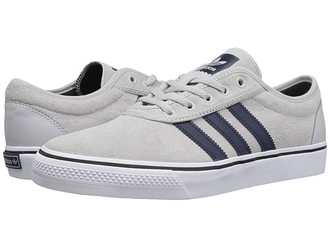 adidas Skateboarding Adi-Ease - Light Grey Heather Solid Grey/Collegiate Navy/White