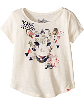 Lucky Brand Kids - Stretchy Short Sleeve Tee w/ Leopard Screen Print (Toddler)