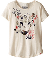 Lucky Brand Kids - Stretchy Short Sleeve Tee w/ Leopard Screen Print (Big Kids)