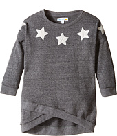 C&C California Kids - French Terry Cross Front Boat Neck Top (Little Kids/Big Kids)