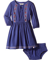 Lucky Brand Kids - Rayon Crinkle Gauze Embroidered Dress (Toddler)