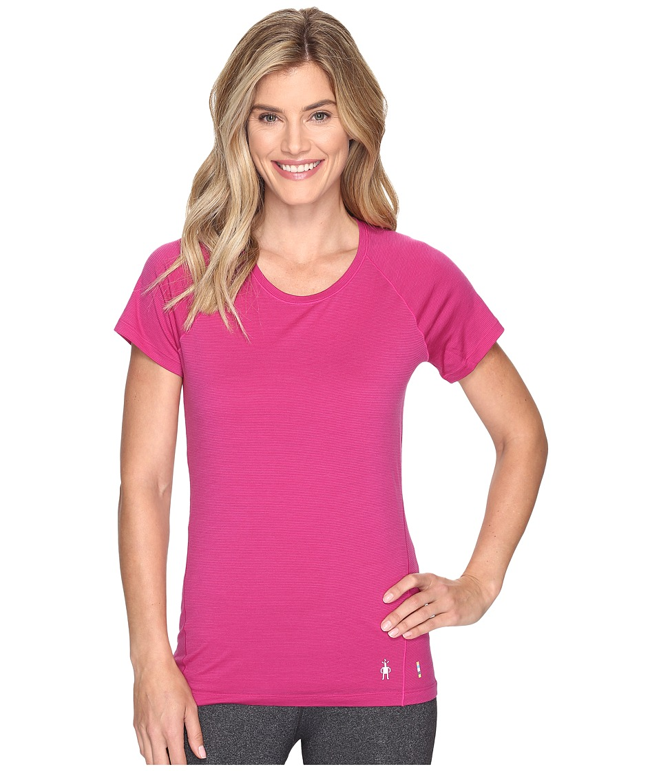 Smartwool Merino 150 Baselayer Pattern Short Sleeve (Berry) Women