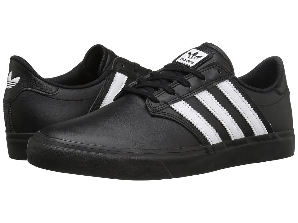 adidas Skateboarding - Seeley Premiere (Black/White/Black) Mens Skate Shoes