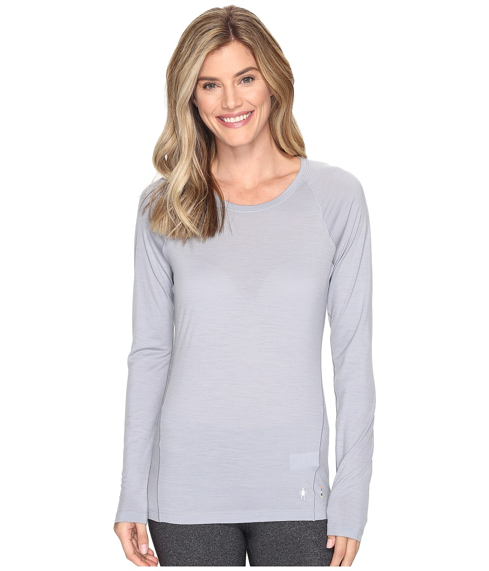 Smartwool Merino 150 Baselayer Pattern Long Sleeve (Pebble Gray) Women