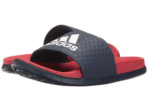 adidas Kids Adilette SC Plus Logo (Toddler/Little Kid/Big Kid) - Navy/Scarlet/Footwear White