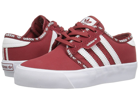 adidas Skateboarding Seeley J (Little Kid/Big Kid) - Mystery Red/Mystery Red/White