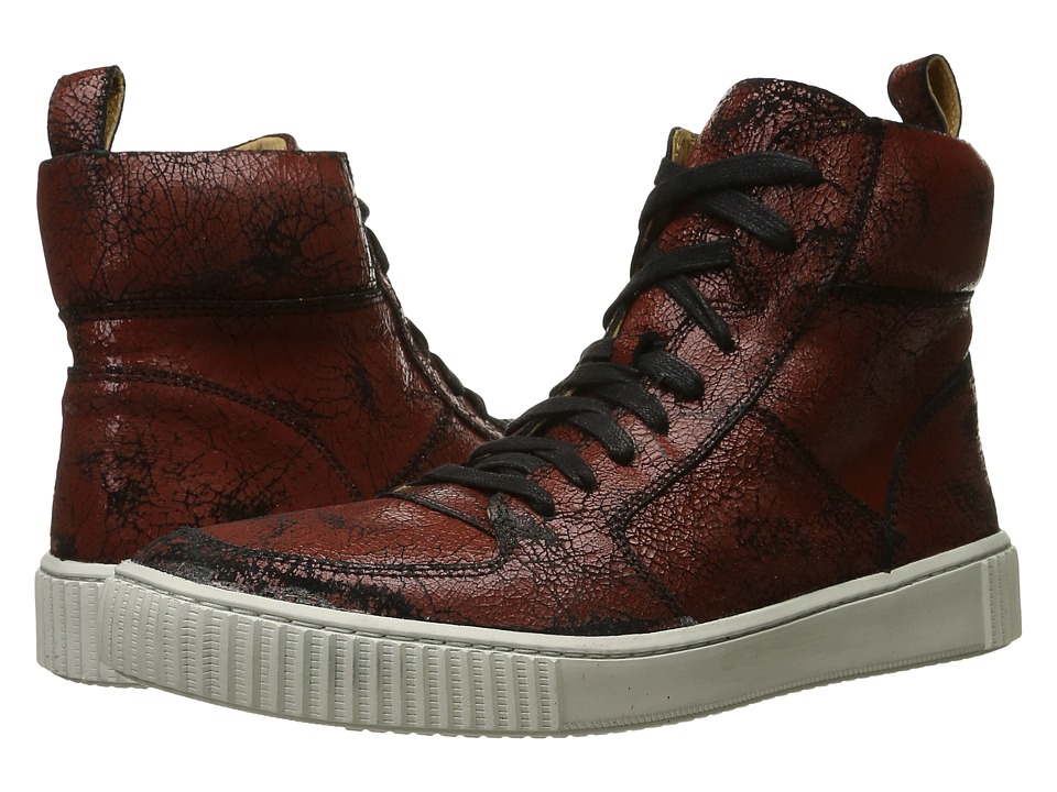 John Varvatos - Bedford Hi Top (Brick) Men