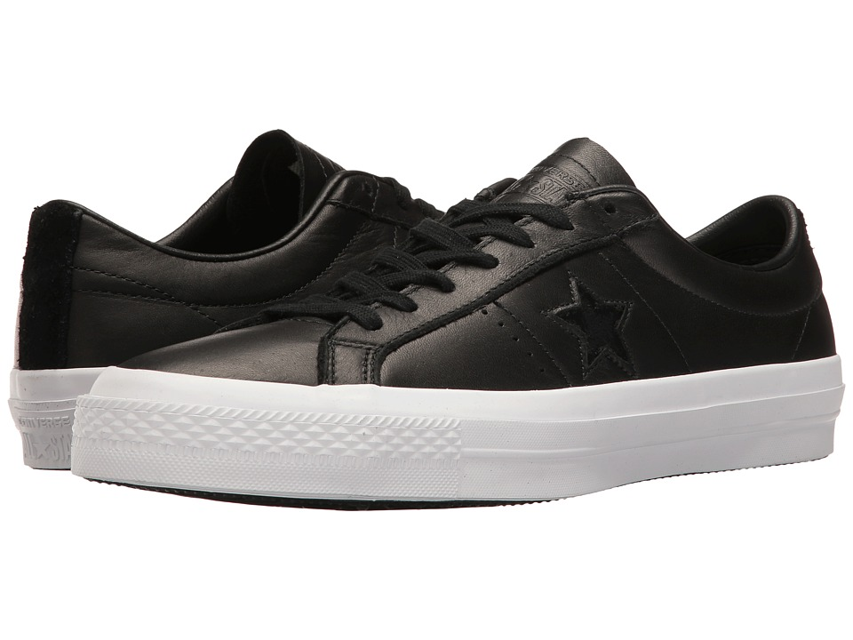 Converse One Star Leather Ox (Black/White/Black) Men