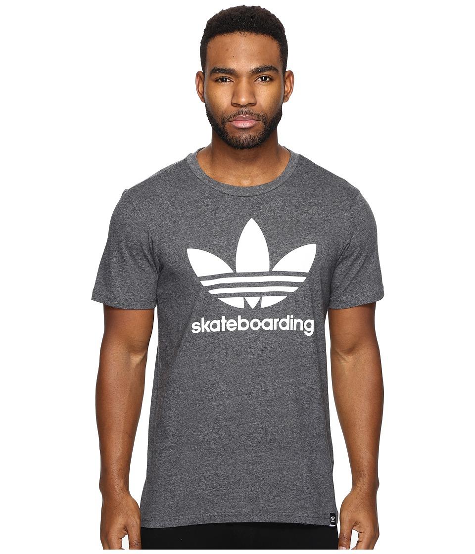 adidas Skateboarding Clima 3.0 Tee (Dark Grey Heather/White) Men