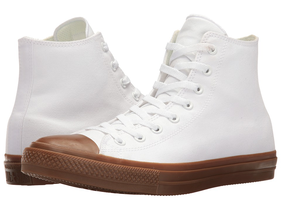 Converse Chuck Taylor All Star II Gum Hi (White/White/Gum) Classic Shoes