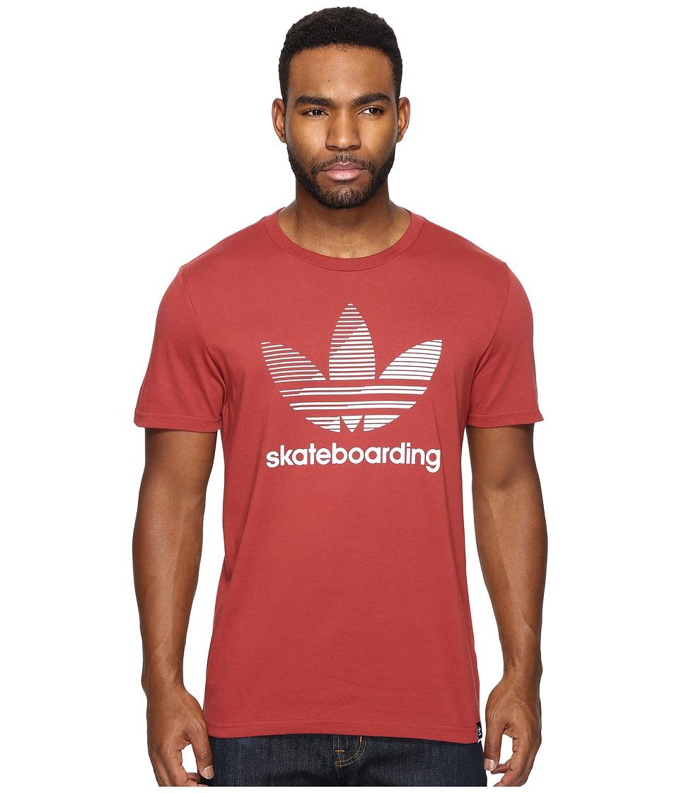 adidas Skateboarding Clima 3.0 Logo Remix Tee (Mystery Red/White) Men