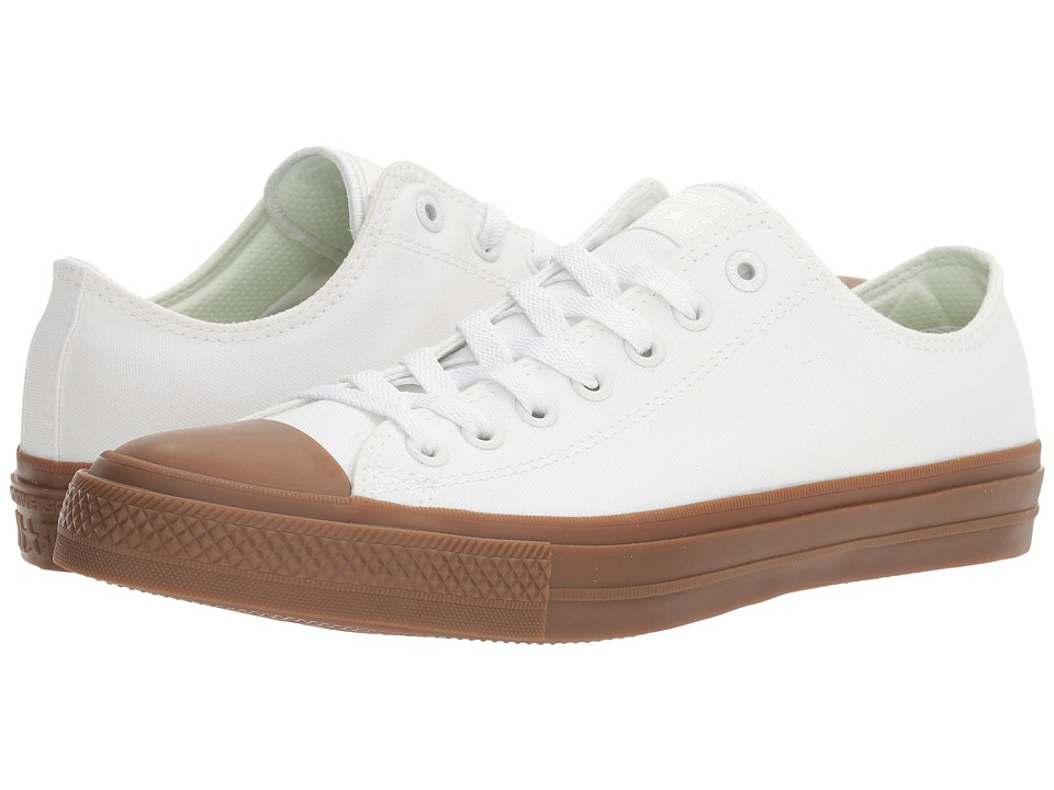 Converse Chuck Taylor All Star II Gum Ox (White/White/Gum) Classic Shoes