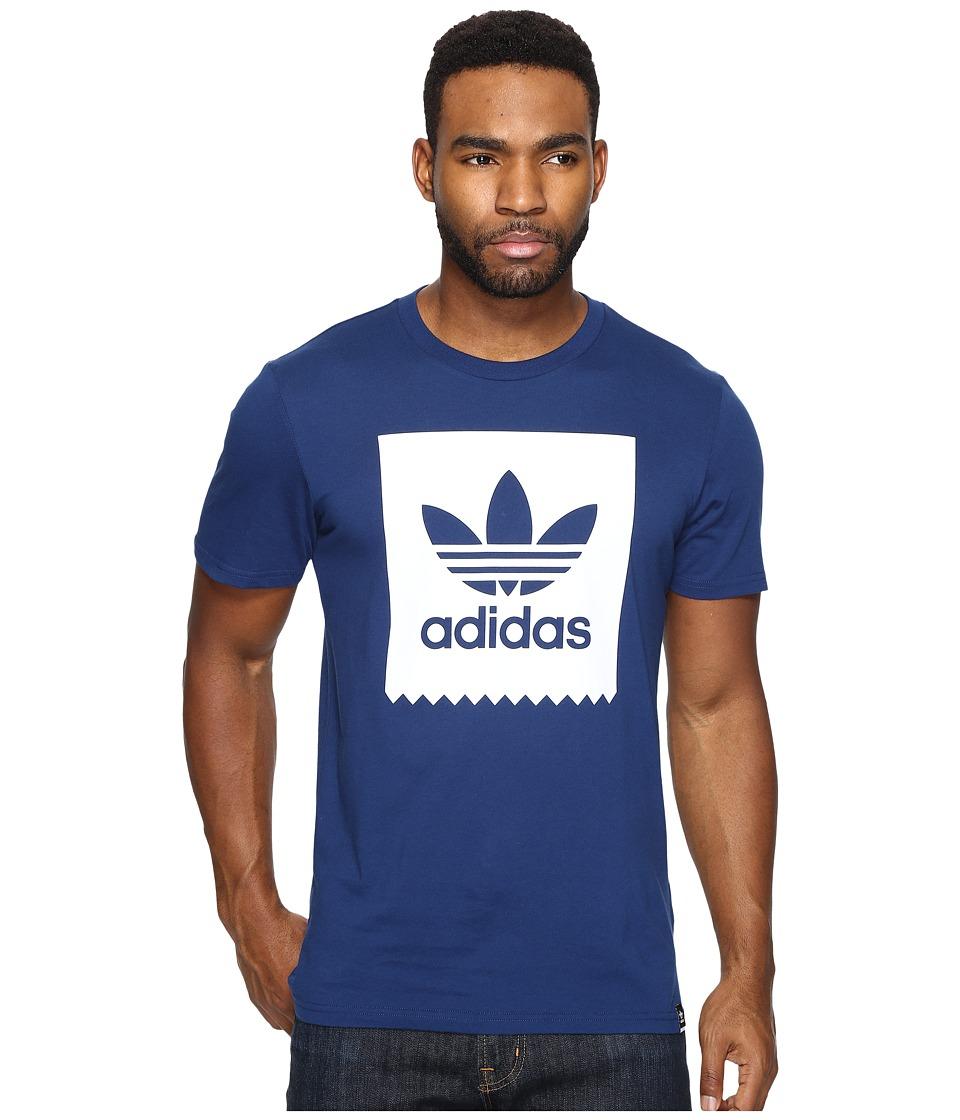 adidas Skateboarding Blackbird Logo Fill Tee (Mystery Blue/White) Men