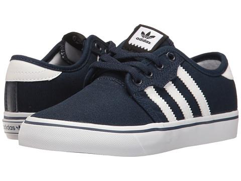 adidas Skateboarding Seeley J (Little Kid/Big Kid) - Collegiate Navy/White/Collegiate Navy