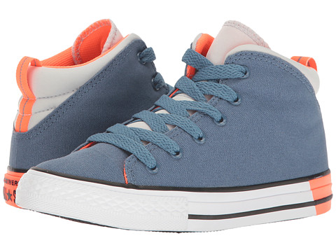 Converse Kids Chuck Taylor All Star Official Mid (Little Kid/Big Kid) - Blue Coast/Mouse/White