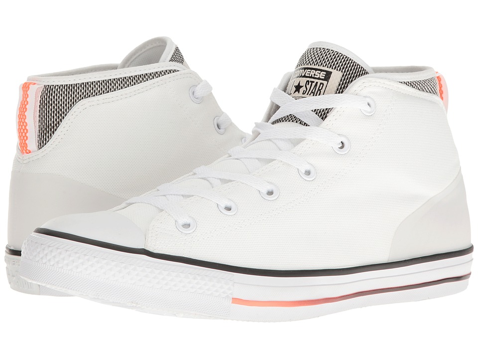 Converse Chuck Taylor All Star Syde Street Summer Mid (White/Black/Hyper Orange) Men