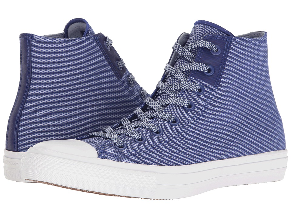 Converse Chuck Taylor All Star Chuck II Woven Hi (True Indigo/Blue Granite/White) Classic Shoes