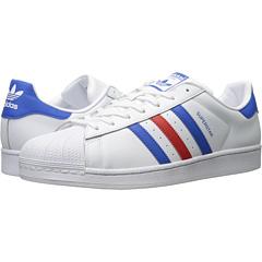 Adidas Mens Originals Superstar Shoes (White/Red/Blue)