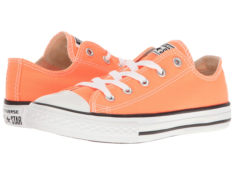 Converse Kids Chuck Taylor All Star Ox (Little Kid) (Hyper Orange) Kids Shoes