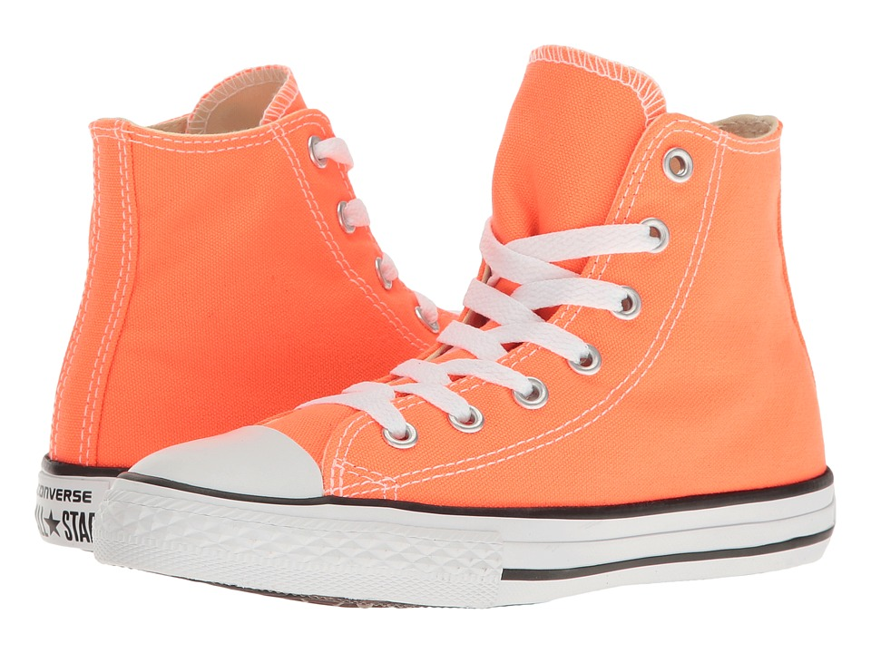 Converse Kids Chuck Taylor All Star Hi (Little Kid) (Hyper Orange) Kids Shoes
