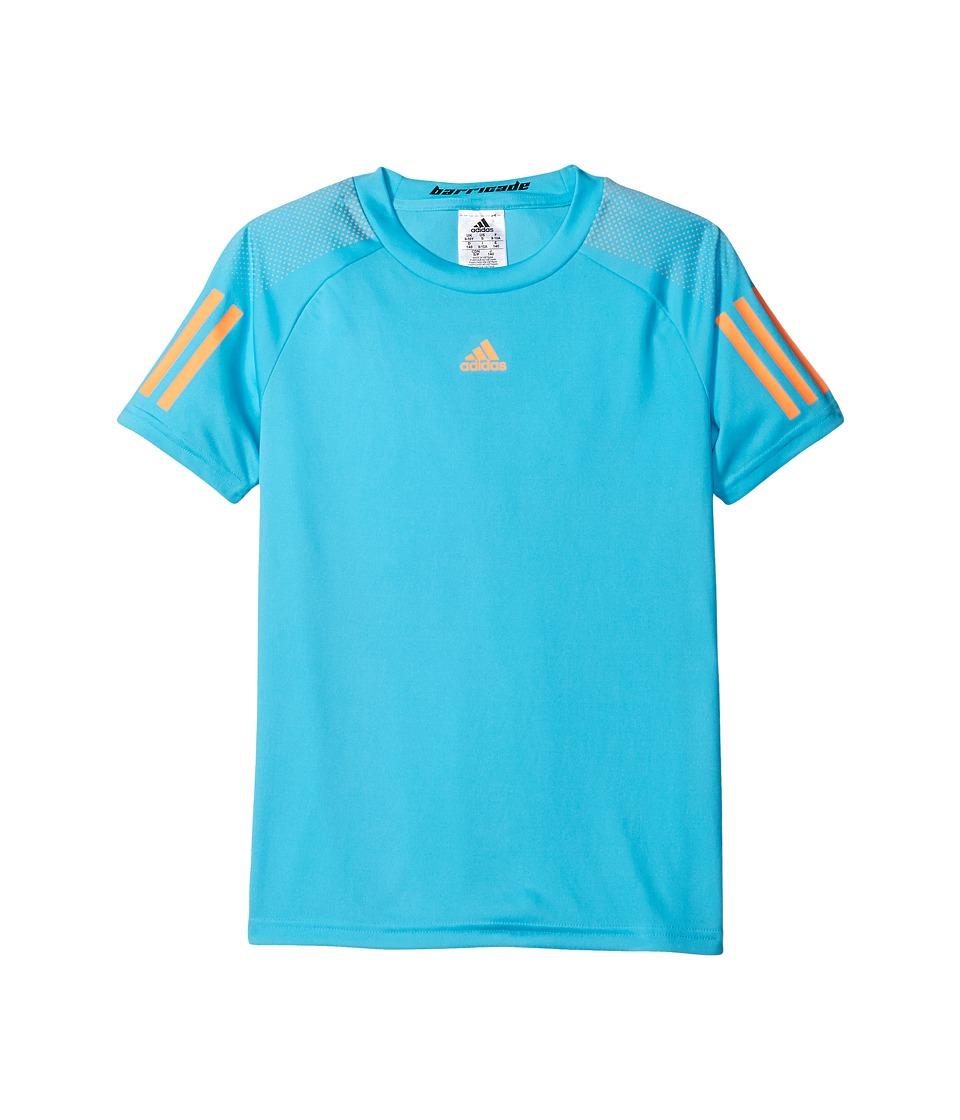adidas Kids BARRICADE Tee (Little Kids/Big Kids) (Samba Blue/Glow Orange) Boy