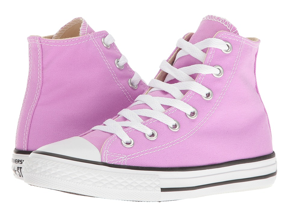 Converse Kids Chuck Taylor All Star Hi (Little Kid) (Fuchsia Glow) Girl