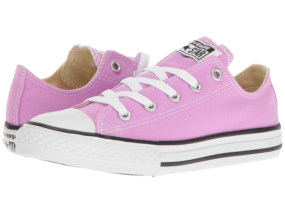 Converse Kids Chuck Taylor All Star Ox (Little Kid) (Fuchsia Glow) Girl
