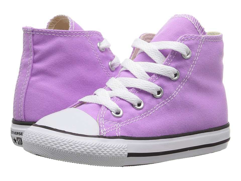Converse Kids Chuck Taylor All Star Hi (Infant/Toddler) (Fuchsia Glow) Girl