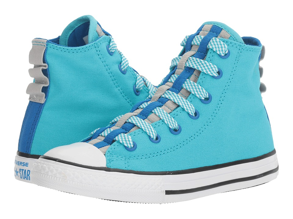 Converse Kids Chuck Taylor All Star Loopholes Hi (Little Kid/Big Kid) (Fresh Cyan/Soar/White) Girl