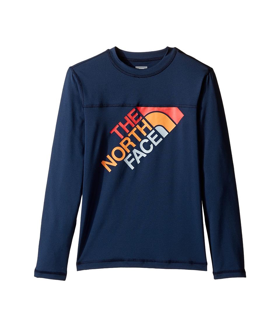 The North Face Kids Long Sleeve Hike/Water Tee (Little Kids/Big Kids) (Cosmic Blue) Boy