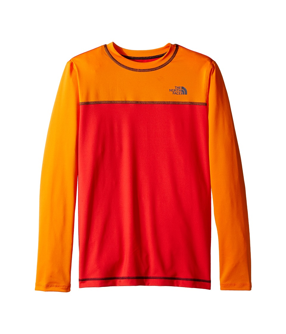 The North Face Kids Long Sleeve Hike/Water Tee (Little Kids/Big Kids) (High Risk Red) Boy