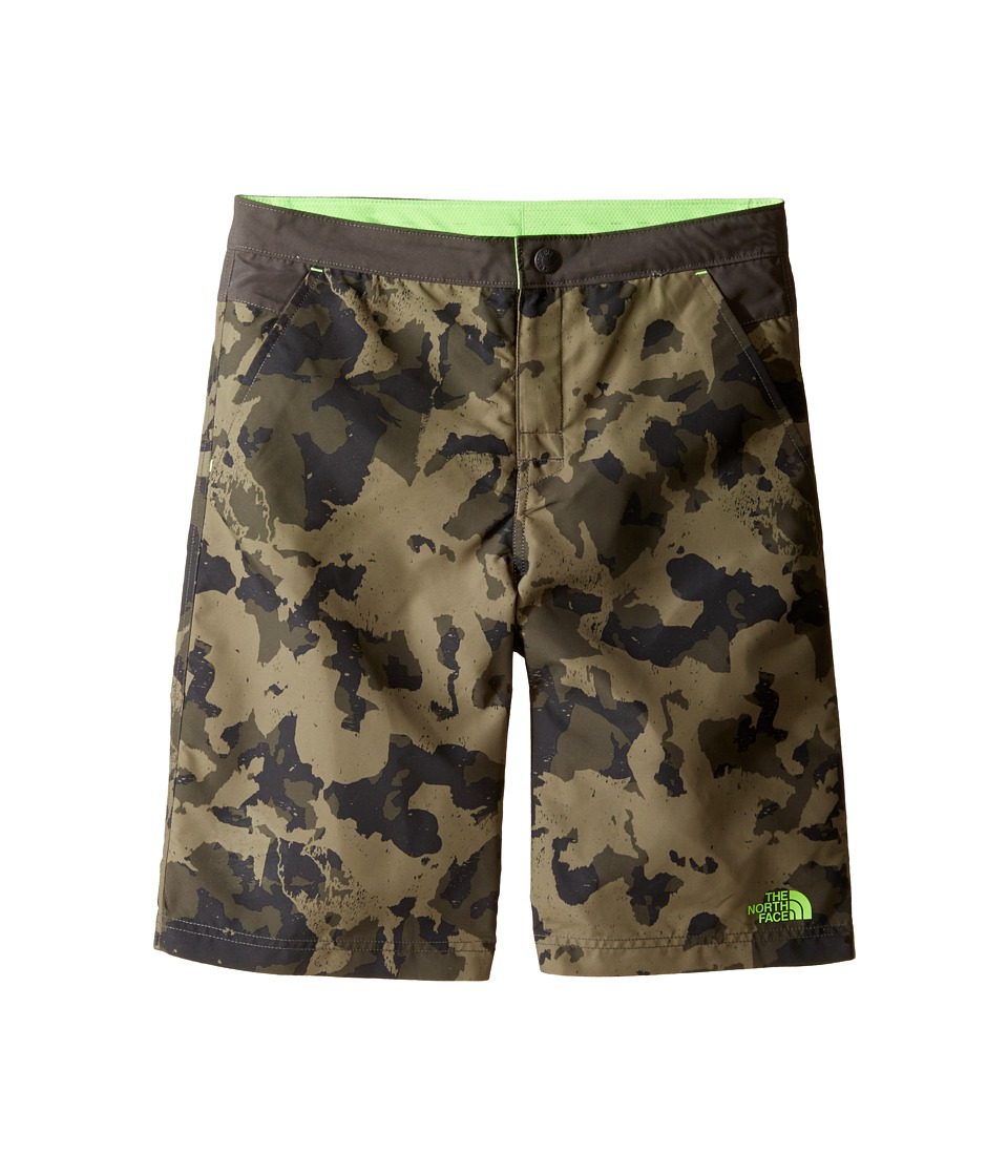 The North Face Kids - Hike/Water Shorts (Little Kids/Big Kids) (Burnt Olive Green Animal Camo Hike Print (Prior Season)) Boys Shorts