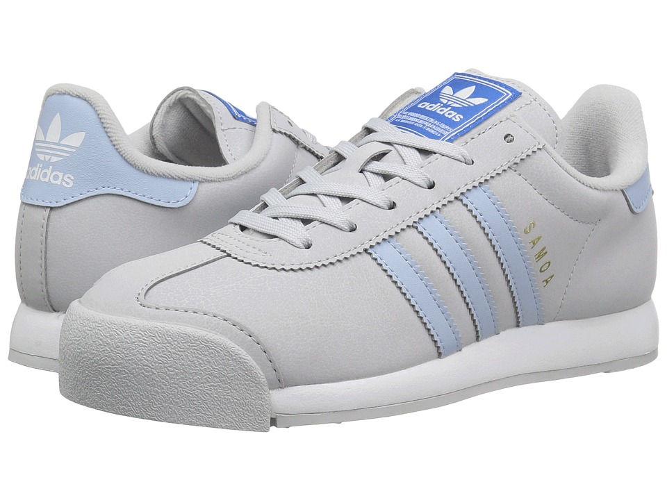 adidas Originals - Samoa (Light Grey Heather Solid Grey/Easy Blue/Footwear White) Womens Classic Shoes