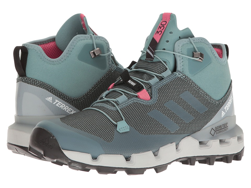 adidas Outdoor Terrex Fast GTX-Surround (Vapour Steel/Vapour Steel/Tactile Pink) Women
