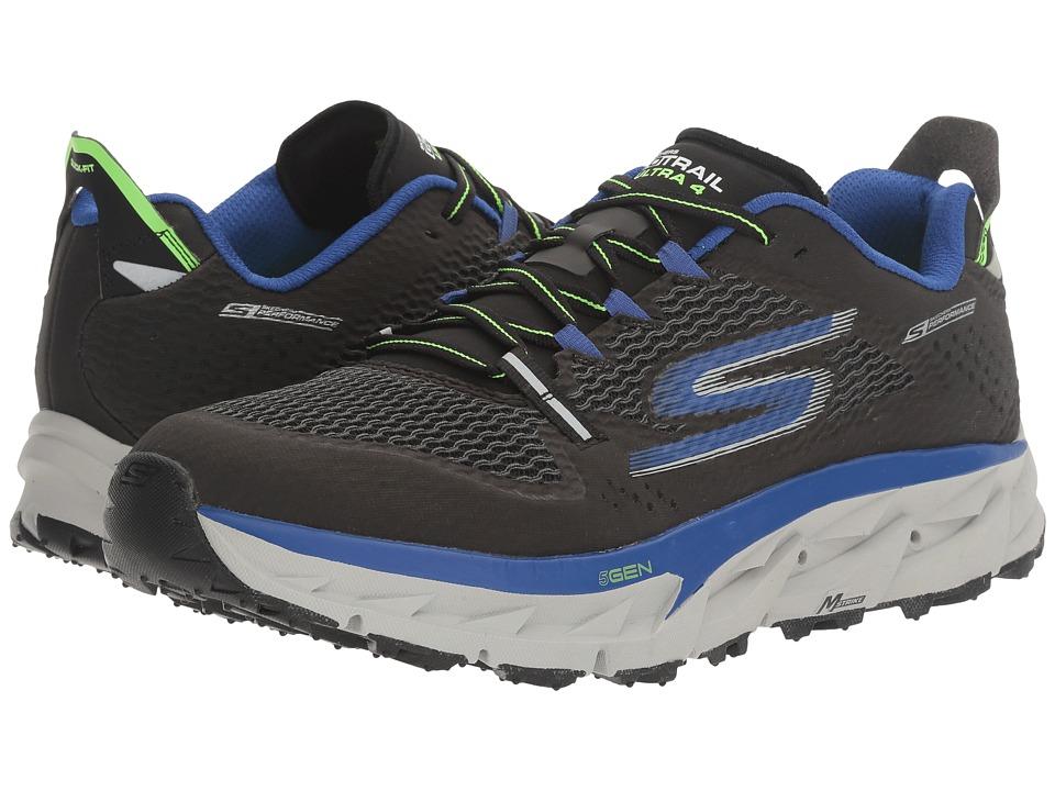 SKECHERS Go Trail Ultra 4 (Black/Blue) Men