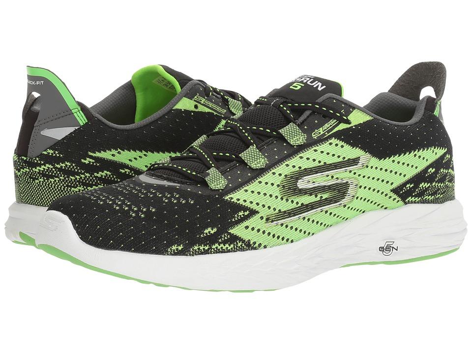 SKECHERS Go Run 5 (Black/Green) Men