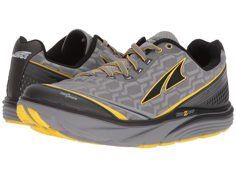 Altra Footwear - Torin IQ (Gray/Yellow) Mens Running Shoes
