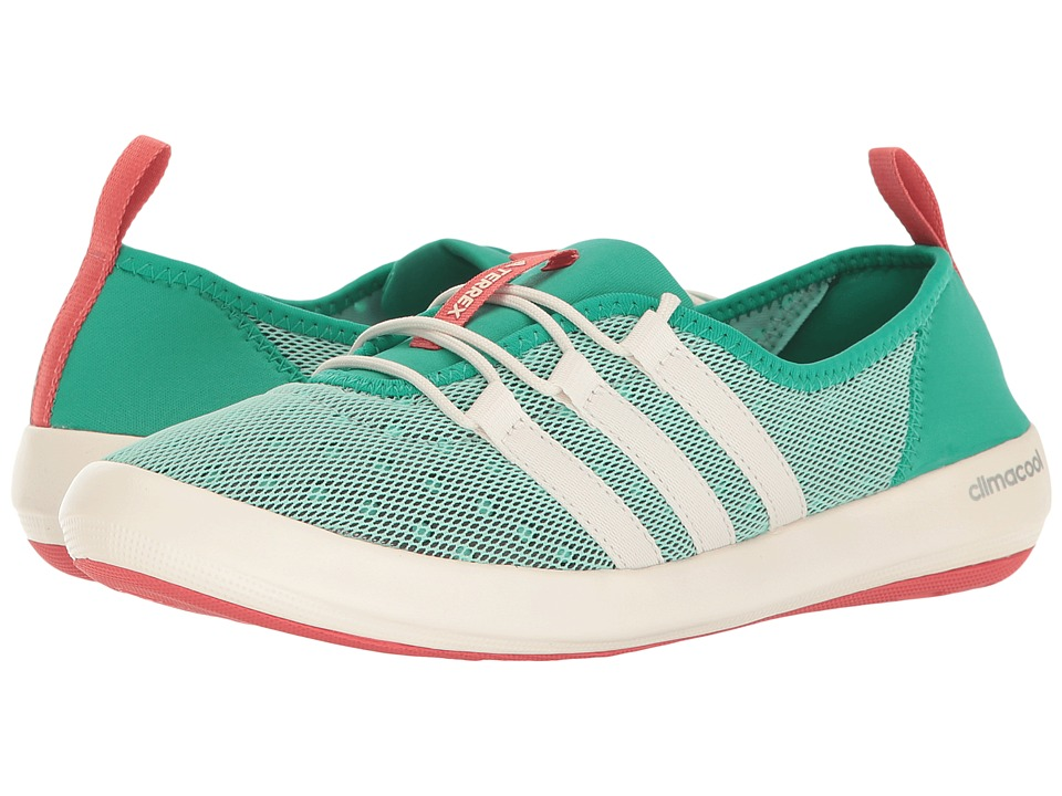 adidas Outdoor Terrex Climacool Boat Sleek (Core Green/Chalk White/Tactile Pink) Women