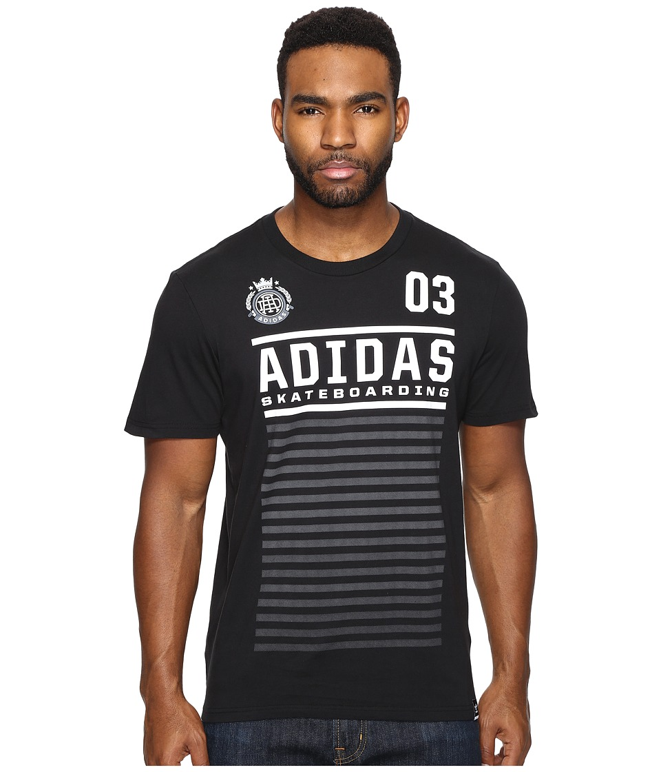 adidas Skateboarding FC Tee (Black/White/Clear Onix) Men