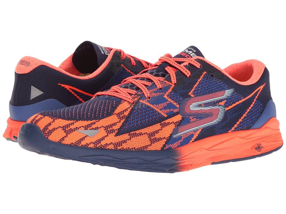 SKECHERS Go Meb Speed 4 (Blue/Orange) Men
