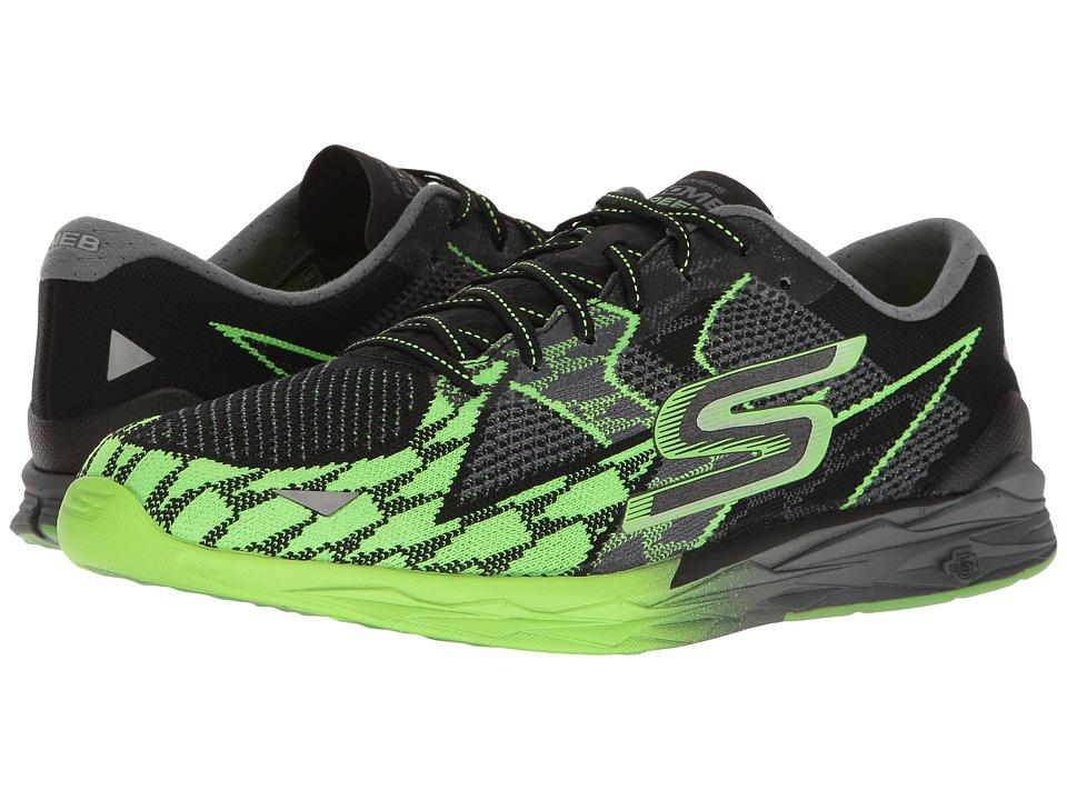 SKECHERS Go Meb Speed 4 (Black/Green) Men