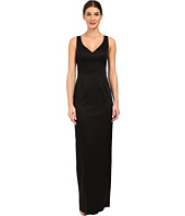 Adrianna Papell - V-Neck Ottoman Column Gown