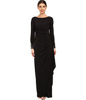 Adrianna Papell - Venecian Jersey Draped Gown